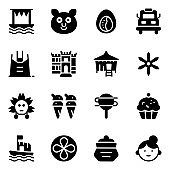Filipino Cultural Elements Solid Icons Pack
