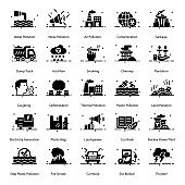 Pack Of Pollution glyph Icons