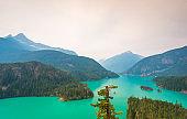 scene in Diablo dam landscape when on a day in North Cascade national park,Wa,Usa