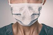 COVID-19 Coronavirus mask Doctor wearing preventive PPE