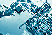 Abstract,close up of Mainboard Electronic background. (logic board,cpu motherboard,circuit,system board,mobo)