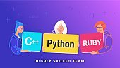 Highly skilled team of young programmers