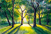 Watercolor Painting - Forest