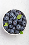 Overhead shot of blueberries