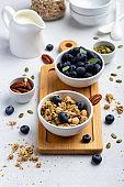 Healthy breakfast served on board