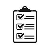 Icon clipboard checklist vector icon