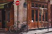 Paris street and bicycle