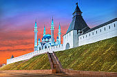 Summer Kul Sharif Mosque and the Transfiguration Tower