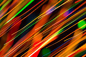 Abstract image of bright colored dynamic lights