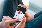 Black Friday Electronics Shopping Using Your Smart Phone