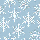Merry Christmas snowflake seamless pattern. Festive winter holiday background. Vector isolated magic star texture for wrapping paper.