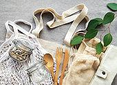 Mesh bag and cotton bags