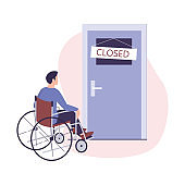 Ableism concept. Discrimination and social prejudice against people