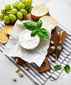 Close up view of camembert cheese
