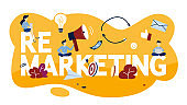 Remarketing concept illustration. Business strategy or campaign for sales increase