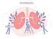 Pulmonology concept. Lungs disease examination and treatment.