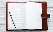 Open Leather notebook