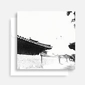 Korean Traditional calligraphy Background, thanksgiving day, watercolor scenery