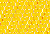 Honeycomb pattern background.  Abstract honeycomb. Vector illustration