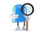 LED character with magnifying glass