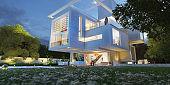 Luxurious modern architecture villa