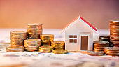 Real estate investment. Saving money concept