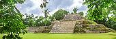 Belize, Central America, Altun Ha Temple. Web Banner.