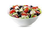 Greek Salad with feta cheese and olives