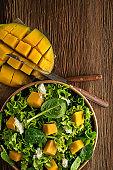 Green salad with mango fruit