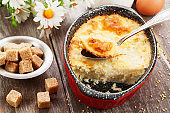 Homemade millet casserole
