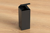 Blank tall and slim gift box with hinged flap lid