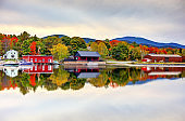Autumn on Moosehead Lake in Maine
