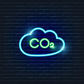 Cloud neon Icon. Ecology Vector trendy colored symbols. Weather forecast concept. Glowing illustration sign for design.