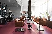 Interior beauty salon, place for makeup artist, hairdresser