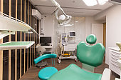 Dentist tools and children dentistry chair waiting to be used