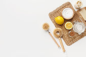 Professional eco cleaning, bamboo brushes, natural soda