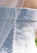 결혼 웨딩 결혼식날 신부 웨딩드레스 뒷모습