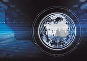 디지털 기술 글로벌 그래픽이미지