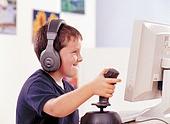 어린이 컴퓨터 게임 조이스틱 즐거움