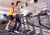 People running on the treadmill