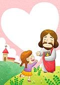 일러스트, 어린이, 캐릭터, 종교, 기독교, 예수