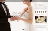 신랑이 신부에게 반지를 끼워주는 결혼 정보 홈페이지