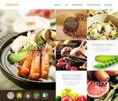 다양한 요리와 요리 제료가 바탕된 요리 홈페이지