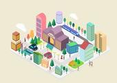 Three-dimensional town