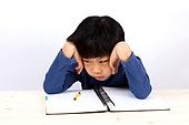 A portrait of a cute asian boy