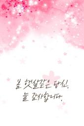 모바일템플릿, 캘리그라피, 봄, 편지
