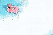 수채화, 여름, 바다