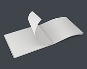 책, 노트, 종이, 3d