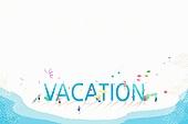 수채화, 여름, 바다, 휴가