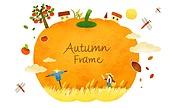 가을, 프레임, 백그라운드